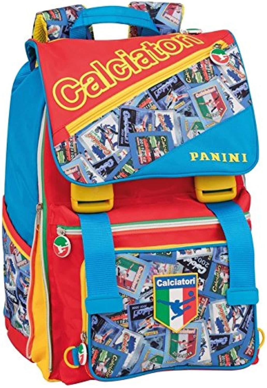 CALCIATORI PANINI Zaino borsa scuola tempo libero estensibile blu VZ741