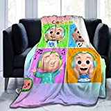 PFTBST Cartoon JJ Melon Soft Baby Blanket for Boys and Girls Warm Flannel Air Conditioning Blanket Nursery Receiving Blanket Suitable for Sofa and Crib 40'X50'