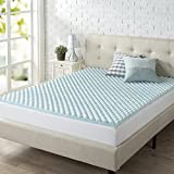 Best Egg Crate Mattress Toppers - Zinus 2 Inch Swirl Gel Memory Foam Convoluted Review