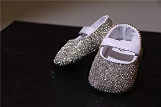 New Bling Diamond Design Pure Handmade Chain Drill Embedded Baby Shoes Gifts For Baby Girls Baptism
