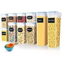 soledi contenitori alimentari set di 10 contenitori cucina ermetici senza bpa buon aiuto per riporre la cucina facile da pulire perfetto per cereali, avena, pasta, cheerios, noci, ecc
