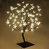 45cm LED Baum Bäumchen 72er Blüten Blütenbaum Kirschbaum Lichterbaum Baum für Weihnachten Hochzeit Partei Innen Dekoration (Warmweiß)