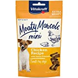 Vitakraft Meaty Morsels Mini Treats for Dogs, Extra Meaty, Gently Oven-Roasted, Soft and Tasty (Chicken with Sweet Potatoes, 1-Pack)