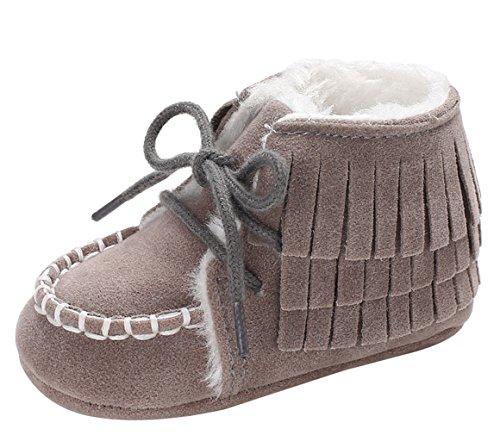 Y-BOA Chaussure Chausson Bottines De Neige Fourrure Boots Ski Infantile Bébé Fille Garçon Toddler Gris Size2
