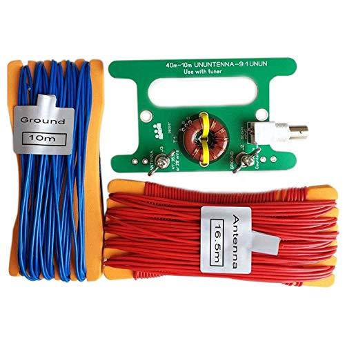 Iycorish Equilibrar Desequilibrar Ununtenna 10W Balun 9: 1 Uso con sintonizador con Interfaz Bnc Interfaz y Cable Largo para Sdr