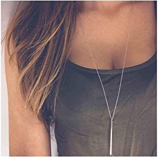 vertical line necklace