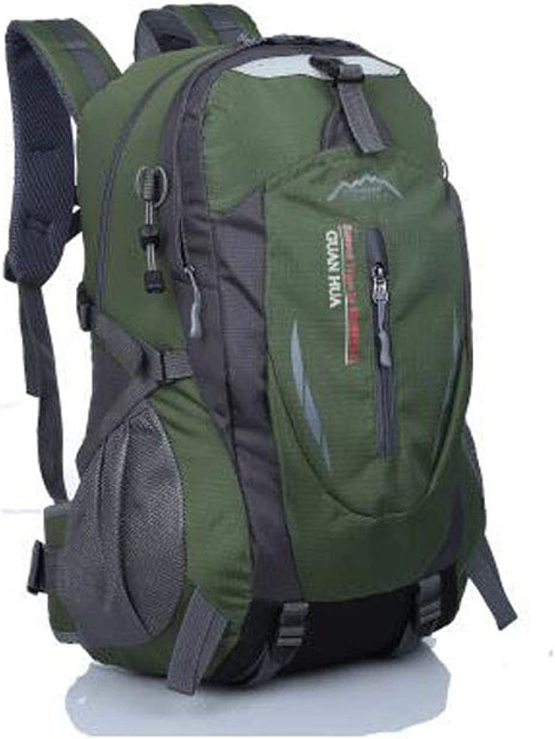 HENG Backpack for Man,Outdoor Sports Fashion Ultra Lightweight Backpack, Dark bluee, Pink, Military Green, orange, for Hiking, Traveling & Camping (color   Military Green)
