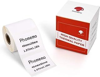 Phomemo Papel de etiquetas térmicas-etiqueta autoadhesiva multifunción, etiqueta de dirección 1.57