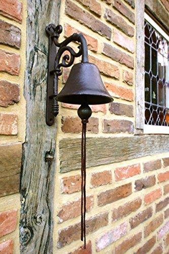 Antikas - campana puerta de casa - campana estilo antiguo jardín - timbres de pared de hierro
