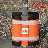 ABCCANOPY 4er Set Standfuß für Pavillon Partyzelt Gewichte, Orange/Schwarz