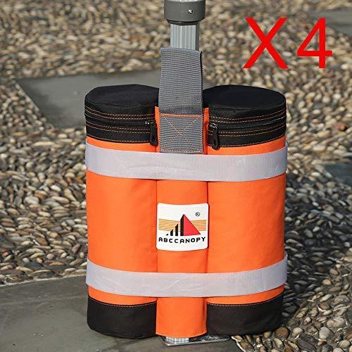 Preisvergleich Produktbild ABCCANOPY 4er Set Standfuß für Pavillon Partyzelt Gewichte,  Orange / Schwarz