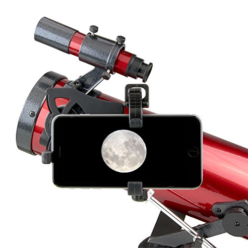 Carson Red Planet Series 35-78x76mm Newtonian Reflector Telescope with Universal Smartphone Digiscoping Adapter (RP-100SP)