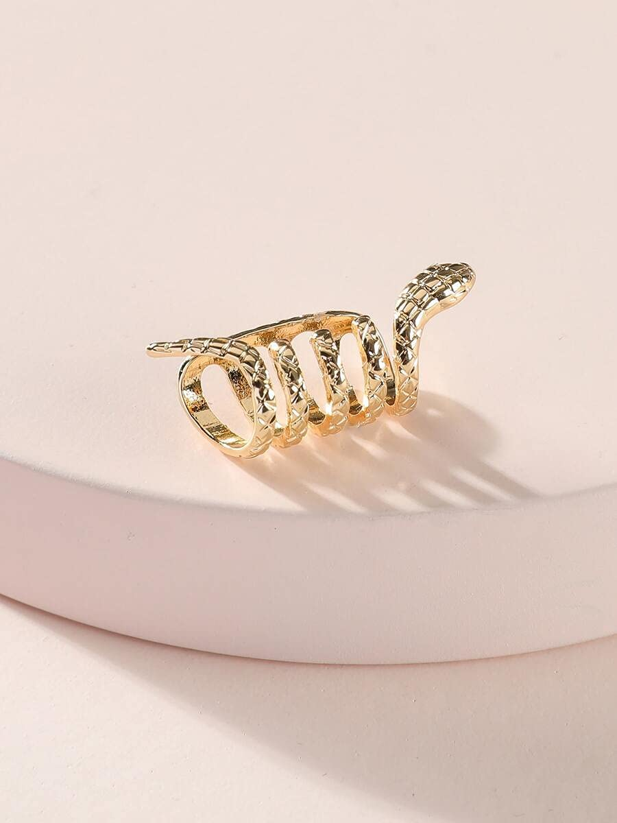 LCUY Hoop Earrings Snake Design Ear Cuff (Color : Gold)