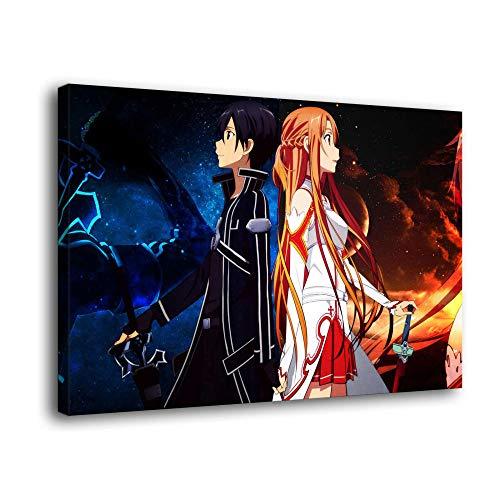 Sword Art Online Leinwand-Kunst-Poster und Wandkunstdruck, modernes Familienschlafzimmerdekor-Poster