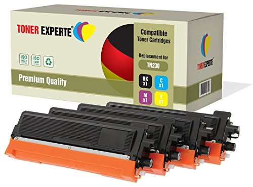 4er Set TONER EXPERTE® Premium Toner kompatibel zu TN230 für Brother DCP-9010CN, HL-3040CN, HL-3045CN, HL-3070CN, HL-3070CW, HL-3075CW, MFC-9120CN, MFC-9125CN, MFC-9320CW, MFC-9325CW