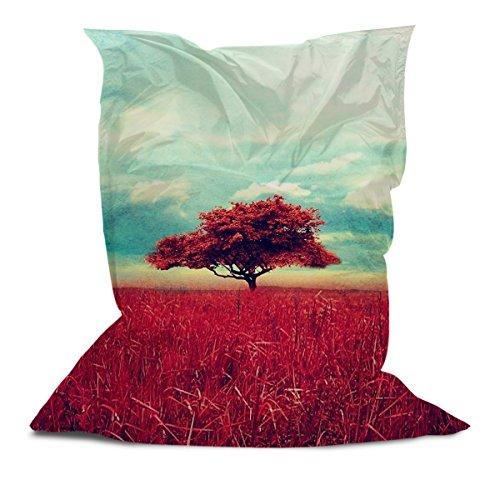 AAA Best Soft Cozy Comfortable Pillow Bean Bag Chair Lounger for Adults Kids Teens with Printed Tree (3' x 4.4')