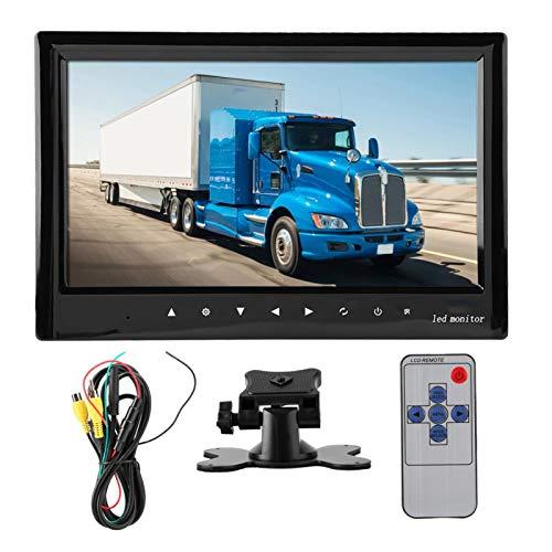 Monitor de cámara de respaldo TFT de 360 grados 12-24 V 7 pulgadas Monitor de vista trasera, para minibús, autobús escolar, camión de tierra, camión de basura, cosechadora, etc.