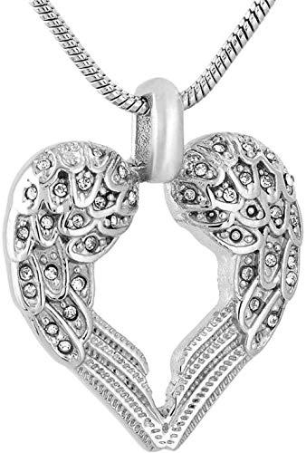TYBM Collar De Cenizas Ash Wing Silver 316L Acero Inoxidable En Forma De Corazón Joyas De Cremación Colgante Collar Conmemorativo Cenicero Funerario-Collar_con_ Embudo