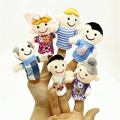Plüschtiere 6 PC Finger Familienmitglieder Puppe Plüschtiere Set Tierkreis Puppe Geschenk Baby Mädchen Hand Puppe Puppen Puppen Set Pädagogische Geschichte Spielzeug ( Color : 1 pc randam delivery )
