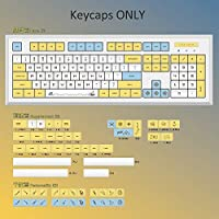 Sublimation Filco PBT Keycaps Cherry Mx Switch Mechanical Gaming Keyboard NP Profile Yellow Blue White DIY Replacement Key Cap