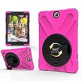 GHC Pad Etuis & Covers pour Samsung Galaxy Tab A 9,7 SM-T550 T555, Sangle à la Main 360 Stand de...