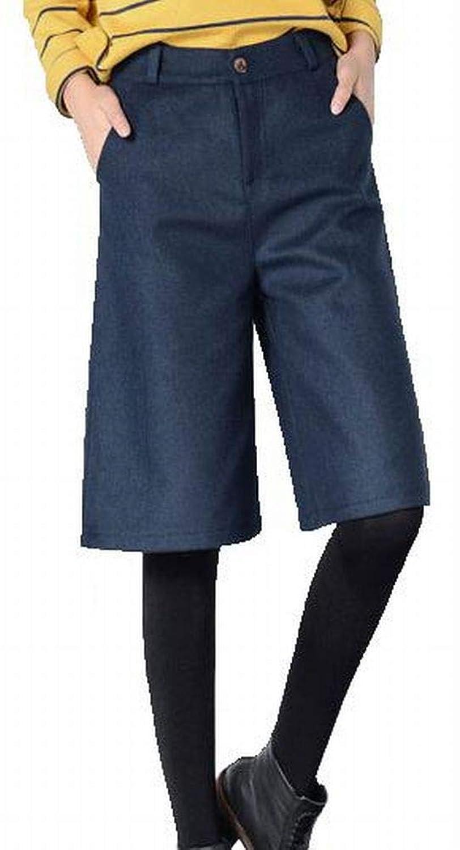 (プライム セント) ポケット付 ハーフパンツ ひざ丈 ゆったり Aライン キュロット ショートパンツ レディース スポーツ 短パン
