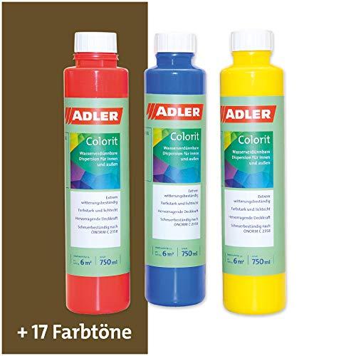 ADLER AVIVA Colorit-AF 501 Umbra Grün 750 ml Volltonfarbe Abtönfarbe Wandfarbe