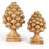 Ceramiche Azzaro & Romano Caltagirone Coppia pigne siciliane in Ceramica H cm 12 + H cm 14 Colore Terracotta Fatte a Mano