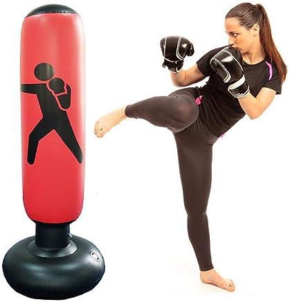 AMhuui Fitness Boxsack, Tumbler Kampfsäulen Boxsack Fitness Sport Spielen Erwachsene Kinder De-Stress Boxing Ziel,rot B07QL1GLC1     | Neuankömmling