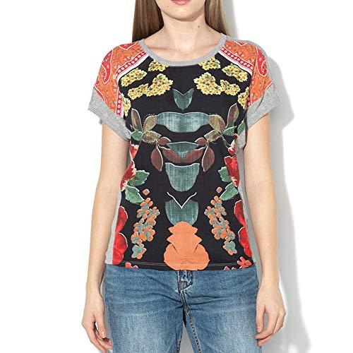 Desigual TS_Casandra Camiseta, (Gris Vigore Claro 2042), Medium para Mujer