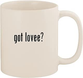 got lovee? - 11oz Ceramic White Coffee Mug Cup, White