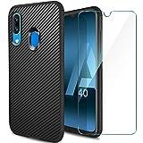ivencase Cover Compatibile con Samsung Galaxy A40 e Pellicola Protettiva in Vetro Temperato,...