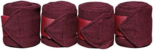 Bandages acryl 3 m, 4 st, Farbe:Bordeaux