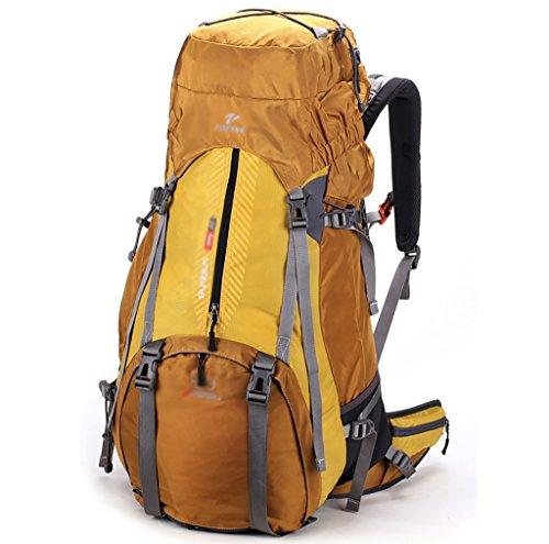 Outdoor A Sac à Dos d'alpinisme pour Hommes et Femmes, épaule imperméable 50L Sac à Dos Plein air Sac d'alpinisme (Couleur: Jaune, Taille: 50L)