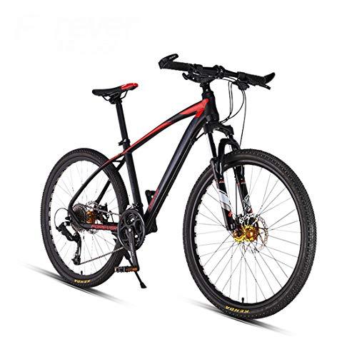 Huashao Mountain Bikes, 26 Inch Big Wheels Mountain Bike, Overdrive Aluminum Frame Mountain Trail Bike, Mens Women Bicycle,27 Speed,A