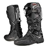 Scoyco Botas de motocross para adultos Quad Dirt Bike ATV Enduro Track Racing Off Road Sports Mx Botas en negro - EU 43 / US 9.5 / UK 8.5