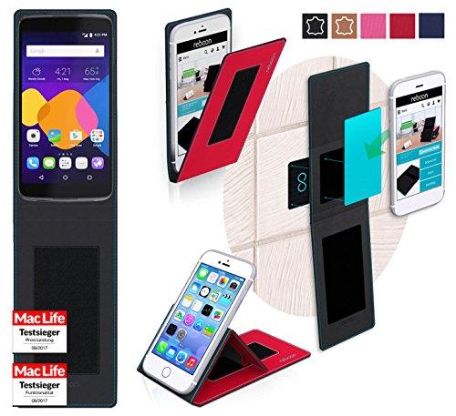 reboon Hülle für Alcatel Idol 5S Tasche Cover Case Bumper | Rot | Testsieger