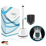 SICOO Silikon-Toilettenbürste Set inkl. Ersatzbürstenkopf - Flexible Klobürste aus Silikon für...
