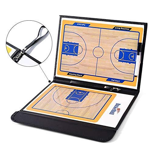 Pizarra táctica magnética para entrenamiento de baloncesto, plegable, con bolígrafo de borrado en seco, clip de instrucción, portapapeles para baloncesto
