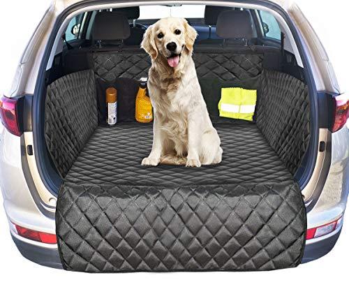 Ferocity Kofferraumschutz mit Ladekantenschutz, Auto Hundedecke Gepolstert für Kofferraum, Autoschondecke für Hunde, Hunde Autodecke für den Kofferraum Gesteppt [115]