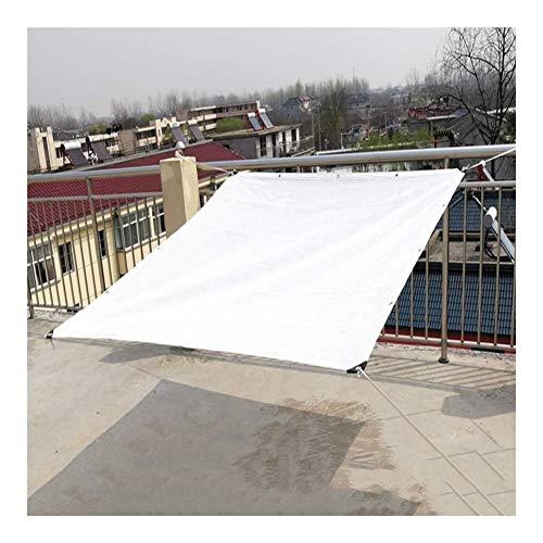 SHIJINHAO-Sichtschutznetz Sonnensegel,Schattierungsnetz Reduzieren Sie Die Temperatur Metallstanzen Gittergewebe Blackout Verdickte Kanten Polyethylen 23 Größen (Color : White, Size : 2x5m)