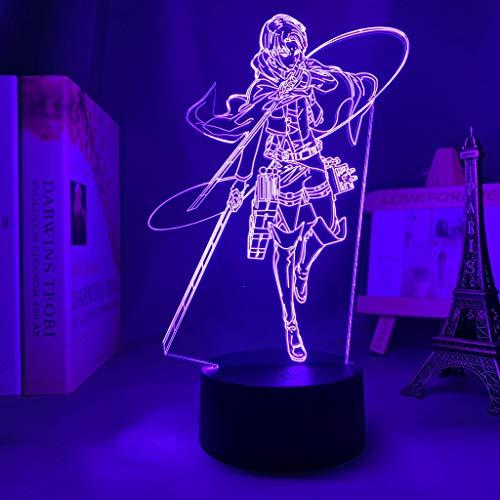 Land of The Lustrous 3D Illusion Lampe LED Nachtlicht, USB-Stromversorgung 7 Farben Blinken Berührungsschalter Schlafzimmer Schreibtischlampe für Kinder Weihnachts geschenk
