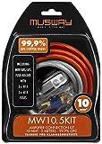 MUSWAY MW10.5KIT Kit 10MM ² Verstärker-anschluss-set 5 Metros Cobre Sólido Juego de Cables 99,9% Ofc