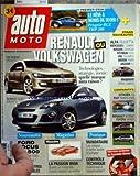AUTO MOTO [No 177] du 01/05/2010 - RENAULT OU VOLKSWAGEN - VW PASSAT - RENAULT CLIO - PEUGEOT RCZ THP 200 - ESSAIS NOUVEAUTES - CITROEN C3 ET FIAT PUNTO EVO - RENAULT SCENIC ET TOYOTA VERSO - FORD FOCUS 500 - LA PASSION BMW - CONTROLE TECHNIQUE - FERNANDO ALONSO