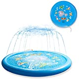 """Sanwotech Splash Pad Sprinklers for Kids,Water Toys for Kids Outdoor Learning ,Inflatable 68"""" Sprinkler Play Mat Baby Pool for 2-12 Year Old Children,Toddlers"""
