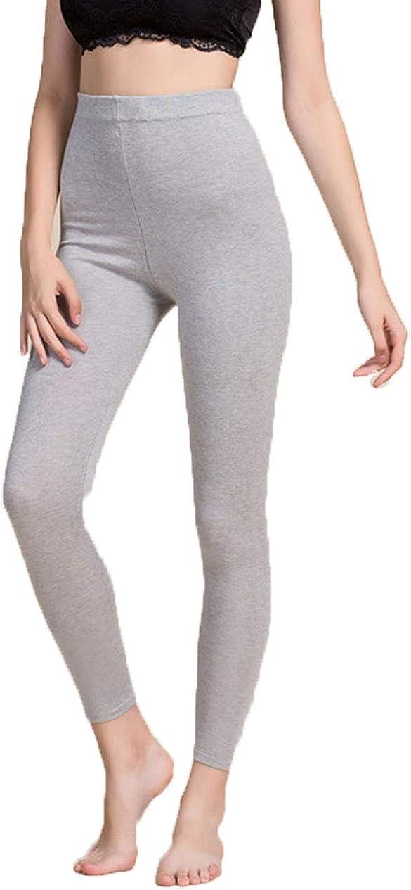 Hoffen Women's Silk Woolen Wool Base Layer Thermal Underwear Leggings Womens Pants