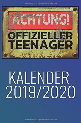 Achtung offizieller Teenager Kalender 2019: Planer mit Kalender, Schulferien, to do Listen, Agenda also Organizer und für Kontakte