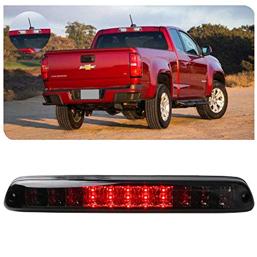 Replacement for 04-12 Chevy Colorado 04-12 GMC Canyon LED High Mount LED 3rd Tail Brake/Cargo Light (Chrome+Smoke)