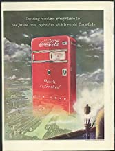 Inviting workers everywhere Coca-Cola ad 1949 giant vending machine by Radabaugh