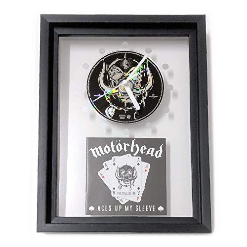 MOTÖRHEAD - Aces Up My Sleeve: GERAHMTE CD-WANDUHR/Exklusives Design